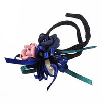 Hair Bun Maker, Floral Ribbon Hair Bun Maker-Hair Bun Maker-online-Color D-hair-extensions-wigs.com