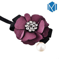 Hair Bun Maker, Floral Ribbon Hair Bun Maker-Hair Bun Maker-online-Purple Bun Maker-hair-extensions-wigs.com