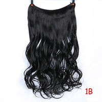 Hair Extensions, 24 Inch Invisible Wire Hair Extensions-Hair Extensions-online-1B 2-hair-extensions-wigs.com