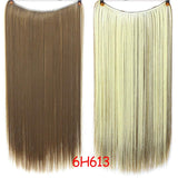 Hair Extensions, 24 Inch Invisible Wire Hair Extensions-Hair Extensions-online-6H613-hair-extensions-wigs.com