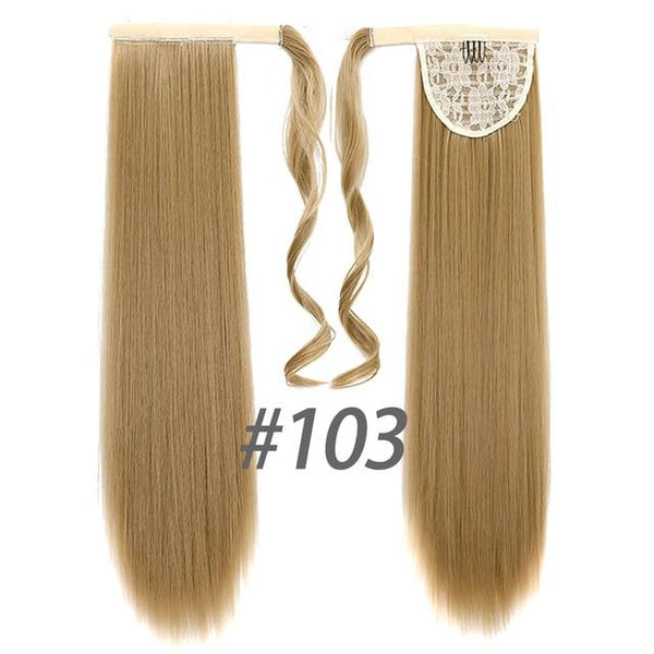Hair Extensions, Straight Clip In Synthetic Ponytail-Hair Extensions-online-103-hair-extensions-wigs.com
