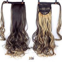 Hair Extensions, Straight Clip In Synthetic Ponytail-Hair Extensions-online-106 1-hair-extensions-wigs.com