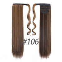 Hair Extensions, Straight Clip In Synthetic Ponytail-Hair Extensions-online-106-hair-extensions-wigs.com