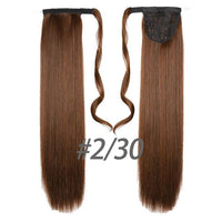 Hair Extensions, Straight Clip In Synthetic Ponytail-Hair Extensions-online-2M30-hair-extensions-wigs.com