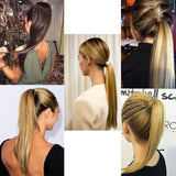 Hair Extensions, Straight Clip In Synthetic Ponytail-Hair Extensions-online-hair-extensions-wigs.com