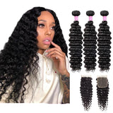 Human Hair Weave Bundles With Closure-Human Hair Weave-online-hair-extensions-wigs.com