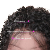 Human Hair Wig, Kinky Curly Lace Front Wigs, 150% Density-Wig-online-hair-extensions-wigs.com