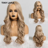 Long Synthetic Wigs Ombre Brown Blonde-Synthetic Wigs-online-LC173-1-hair-extensions-wigs.com