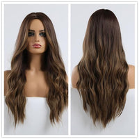 Long Synthetic Wigs Ombre Brown Blonde-Synthetic Wigs-online-LC179-1-hair-extensions-wigs.com