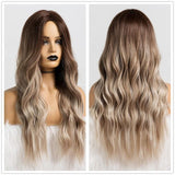 Long Synthetic Wigs Ombre Brown Blonde-Synthetic Wigs-online-LC179-5-hair-extensions-wigs.com