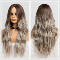 Long Synthetic Wigs Ombre Brown Blonde-Synthetic Wigs-online-LC179-6-hair-extensions-wigs.com