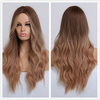 Long Synthetic Wigs Ombre Brown Blonde-Synthetic Wigs-online-LC179-7-hair-extensions-wigs.com