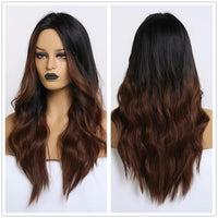 Long Synthetic Wigs Ombre Brown Blonde-Synthetic Wigs-online-LC179-8-hair-extensions-wigs.com