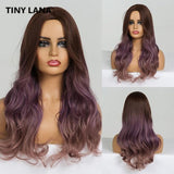 Long Synthetic Wigs Ombre Brown Blonde-Synthetic Wigs-online-LC184-3-hair-extensions-wigs.com