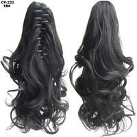 Ponytail Hair Extensions, Clip-in Ponytail Extensions-Hair Extensions-online-1B-hair-extensions-wigs.com