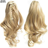 Ponytail Hair Extensions, Clip-in Ponytail Extensions-Hair Extensions-online-M27-613-hair-extensions-wigs.com