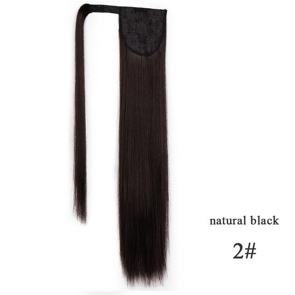 Ponytail Hair Extensions, Synthetic Wrap-around Ponytail-Hair Extensions-online-2-hair-extensions-wigs.com