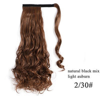 Ponytail Hair Extensions, Synthetic Wrap-around Ponytail-Hair Extensions-online-2-30-hair-extensions-wigs.com