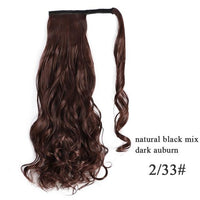 Ponytail Hair Extensions, Synthetic Wrap-around Ponytail-Hair Extensions-online-2-33 2-hair-extensions-wigs.com