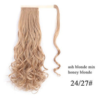 Ponytail Hair Extensions, Synthetic Wrap-around Ponytail-Hair Extensions-online-24-27 2-hair-extensions-wigs.com