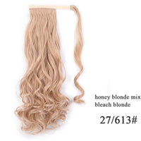 Ponytail Hair Extensions, Synthetic Wrap-around Ponytail-Hair Extensions-online-27-613 2-hair-extensions-wigs.com