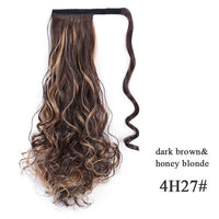 Ponytail Hair Extensions, Synthetic Wrap-around Ponytail-Hair Extensions-online-4H27 2-hair-extensions-wigs.com