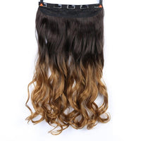 Rio Curly Clip-In Hair Extensions-Hair Extensions-online-T1B/33/27-hair-extensions-wigs.com