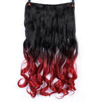 Rio Curly Clip-In Hair Extensions-Hair Extensions-online-T1B/Burgundy-hair-extensions-wigs.com