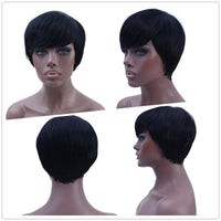 Short Straight Natural Synthetic Wig Hair-Wig-online-Short-hair-extensions-wigs.com