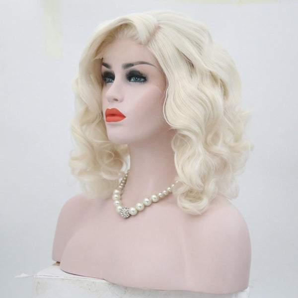 Synthetic Wig, Blonde Lace Front Wig, Natural Wave-Wig-online-Blonde-hair-extensions-wigs.com