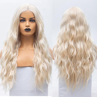 Synthetic Wig, Blonde Synthetic Lace Front Wig, Natural Wave-Wig-online-20inches-hair-extensions-wigs.com