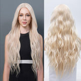 Synthetic Wig, Blonde Synthetic Lace Front Wig, Natural Wave-Wig-online-hair-extensions-wigs.com