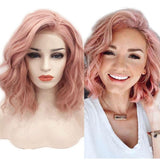Synthetic Wig, Bob Wig, Natural Lace Front Wigs with Side Part-Wig-online-hair-extensions-wigs.com