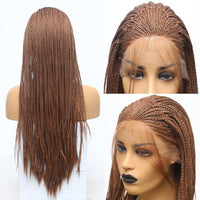 Synthetic Wig, Braided Wig, Brown Lace Front Wig-Wig-online-hair-extensions-wigs.com