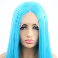 Synthetic Wig, Glueless Blue Lace Front Wig-Wig-online-hair-extensions-wigs.com
