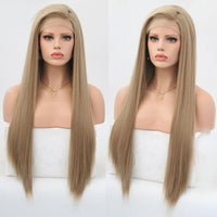 Synthetic Wig, Long Silky Straight Synthetic Lace Front Wig-Wig-online-22inches-hair-extensions-wigs.com