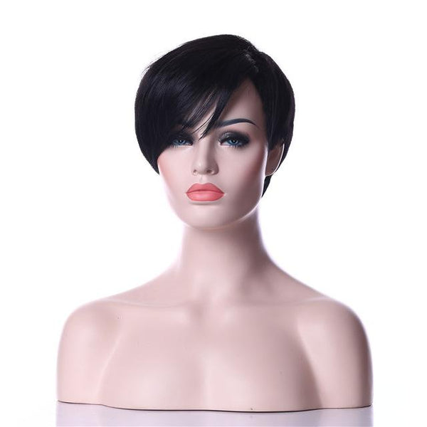 Synthetic Wig Natural Black Hair-Wig-online-natural black-hair-extensions-wigs.com