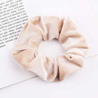 Velvet Ponytail Hairband-Hair Clips-online-Cream-hair-extensions-wigs.com