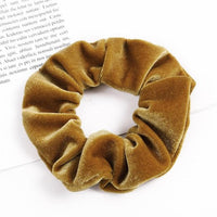Velvet Ponytail Hairband-Hair Clips-online-Dark Khaki-hair-extensions-wigs.com