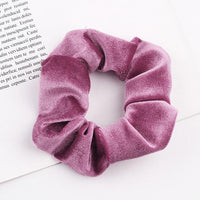 Velvet Ponytail Hairband-Hair Clips-online-Dark Pink-hair-extensions-wigs.com