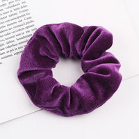 Velvet Ponytail Hairband-Hair Clips-online-Dark Purple-hair-extensions-wigs.com