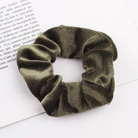 Velvet Ponytail Hairband-Hair Clips-online-Deep Greenish-hair-extensions-wigs.com
