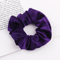 Velvet Ponytail Hairband-Hair Clips-online-Deep Purple-hair-extensions-wigs.com