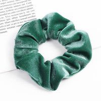Velvet Ponytail Hairband-Hair Clips-online-Light Green-hair-extensions-wigs.com