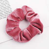 Velvet Ponytail Hairband-Hair Clips-online-Pink-hair-extensions-wigs.com