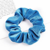 Velvet Ponytail Hairband-Hair Clips-online-Sky Blue-hair-extensions-wigs.com