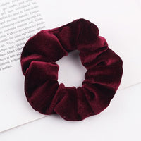 Velvet Ponytail Hairband-Hair Clips-online-Wine Red-hair-extensions-wigs.com