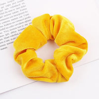 Velvet Ponytail Hairband-Hair Clips-online-Yellow-hair-extensions-wigs.com