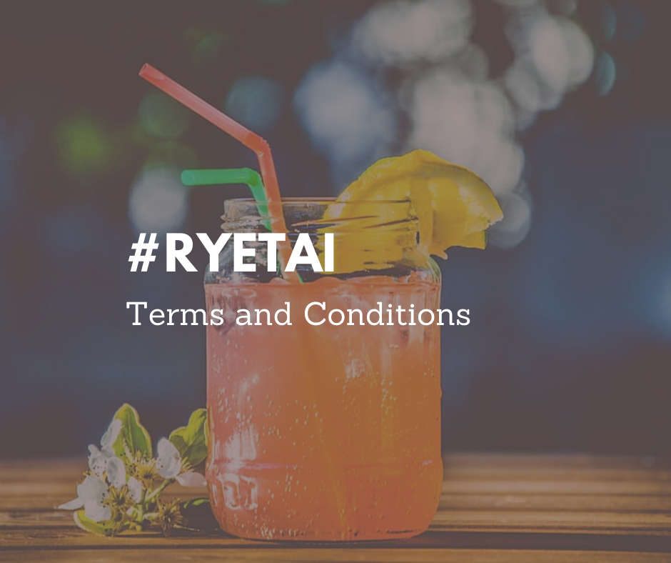 #RyeTai Terms and Conditions