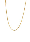 Rope 18K Gold Plated Rope Chain Necklace